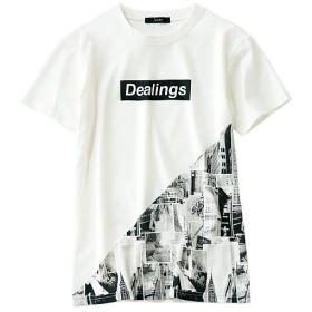 50%OFF【レディース】 クルーネックプリントTシャツ - セシール ■カラー:ホワイト ■サイズ:S,M,L