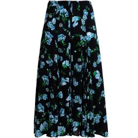 《9/20まで! 限定セール開催中》EMILIA WICKSTEAD レディース 7分丈スカート ブラック 18 ポリエステル 98% / ポリウレタン 2%