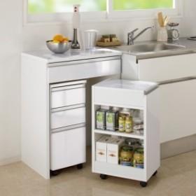 間仕切りキッチンカウンター スリムワゴン 幅29.5cm 703611