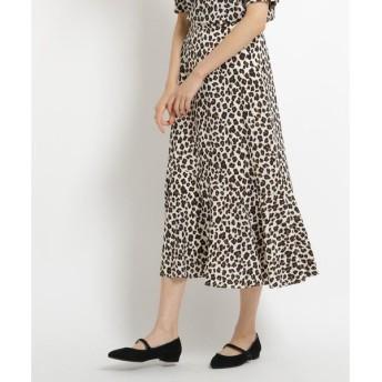 AG by aquagirl / エージー バイ アクアガール レオパード柄裾フレアスカート