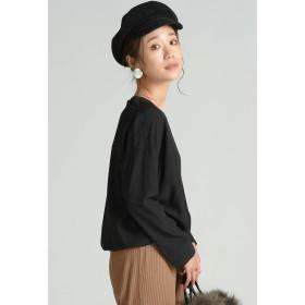 MAYSON GREY 【socolla】変形台襟8分袖ブラウス シャツ・ブラウス,ブラック