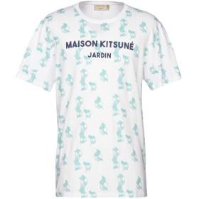 《期間限定セール開催中!》MAISON KITSUN メンズ T シャツ ホワイト S コットン 100%