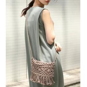 【ビス/ViS】 マクラメ編みショルダーバッグ