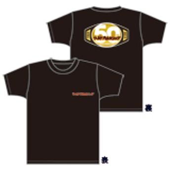 ワールドプロレスリング 50周年記念Tシャツ【黒・XL】