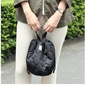 【coen:バッグ】【先行販売・4way】キルト×ボア巾着トートバッグ(リバーシブル/トートバッグ)
