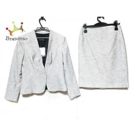 クードシャンス CdeC COUP DE CHANCE スカートスーツ レディース 美品 白×黒 ツイード/たぐ付き 新着 20190820