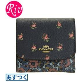 コーチ COACH 財布 折財布 ミニ コンパクト 花柄 アウトレット f67618
