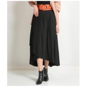 (ANAP/アナップ)ラップデザインプリーツスカート/レディース ブラック 送料無料