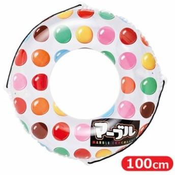 浮き輪 マーブル 100cm 大人 子供 おもしろ 海水浴 海遊び グッズ プール 水遊び ナイトプール