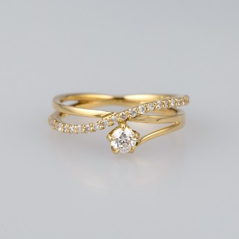 festaria bijou SOPHIA フェスタリア ビジュソフィア K18YG ダイヤモンド ピンキーリング レディース