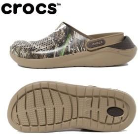 クロックス サンダル メンズ literide realtree max5 clog ライトライドリアルツリーマックスクロッグ 205962-23G crocs