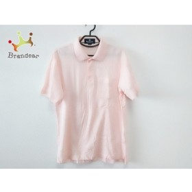 アクアスキュータム Aquascutum 半袖ポロシャツ サイズM メンズ 新品同様 ピンク 新着 20190820
