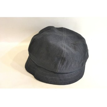 二子玉) ヴィヴィアンウエストウッド リネンハット 麻 帽子 ダークグレー 未使用 サイズ調整可能 手洗いOK S-M 定価11,880円