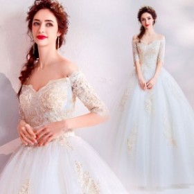 ウエディングドレス ベアトップ ブライダルドレス 上品な 花嫁ドレス ロングドレス オシャレ ウエディング レディース プリンセ