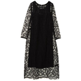 ne Quittez pas / ヌキテパ/NET EMB MAXI DRESS