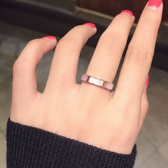【レディースジュエリーステンレ ス316L 18Kgf ピンクゴールド リング 指輪 】天然ピンクシェル ピンク貝 リング 指輪アクセサリー 関節リング ピンキーリング 色落ちしない高品質