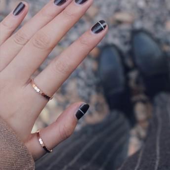 【レディースステンレ ス316L 18Kgf ピンクゴールド リング 指輪 】ハチの巣 細リング リング 指輪 ピンキーリング 色落ちしない高品質!