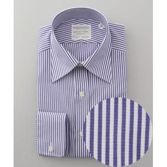 【形態安定】PREMIUMPLEATS ドレスシャツ / ロンドンストライプ