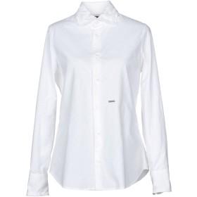 《セール開催中》DSQUARED2 レディース シャツ ホワイト 38 コットン 100%
