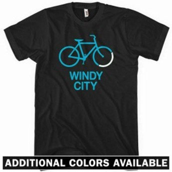 サイクルライト BIKE WINDY CITY Tシャツ -  Chicago Cycling Bicycle 312 NEW