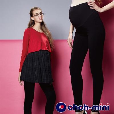 ohoh-mini 孕婦裝 保養水潤白孕婦內搭褲-黑色