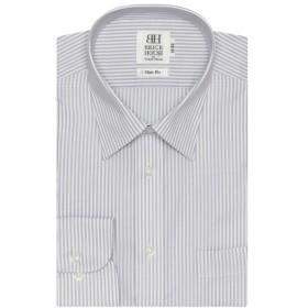 [マルイ]【セール】形態安定 ノーアイロン 長袖ワイシャツ レギュラー 白×グレーストライプ スリム/ブリックハウス(BRICKHOUSE)