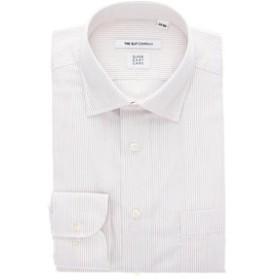 【THE SUIT COMPANY:トップス】【SUPER EASY CARE】ワイドカラードレスシャツ ピンストライプ 〔EC・FIT〕