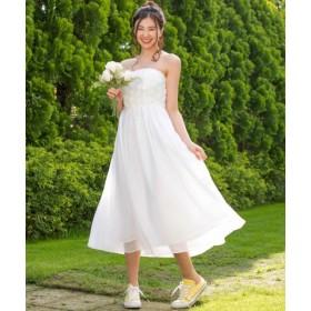 (form forma/フォルムフォルマ)【結婚式・ウェディングドレス】kaene/フラワーチュール×シフォンフレアロングウェディングドレス/レディース オフ