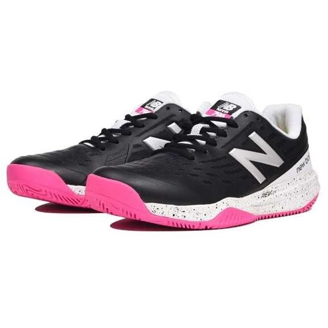 ニューバランス NEW BALANCE WCH796 レディーステニスシューズ(オールコート用) [サイズ:23.5cm(D)] [カラー:ブラック×ピンク] #WCH796B1