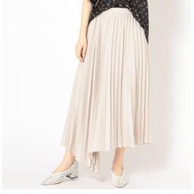 【SHIPS:スカート】Prefer SHIPS: アシンメトリープリーツスカート