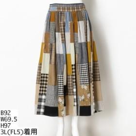 フランシュリッペ(大きいサイズ)(franche lippee)/はぎはぎロングスカート