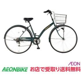 【お店受取り送料無料】 トップバリュ (TOPVALU) LEDオートライト付自転車 カジュアル シティタイプE グリーン 外装6段変速 27型