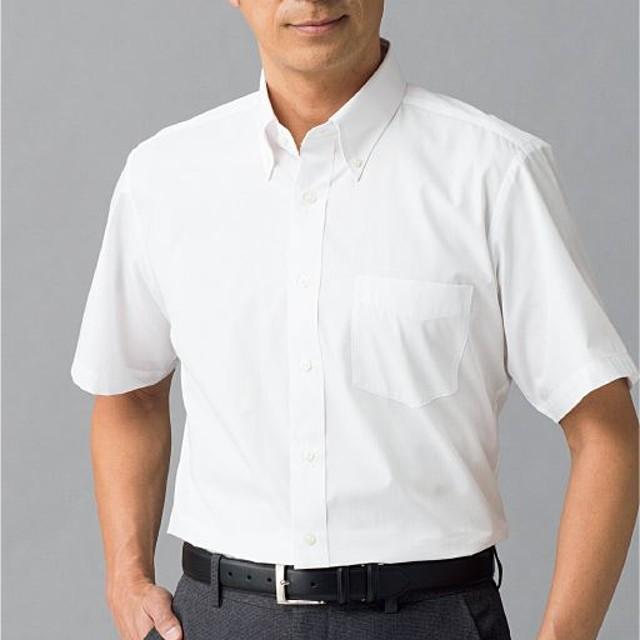 30%OFF【メンズ】 形態安定衿型バリエーションYシャツ(半袖) - セシール ■カラー:ホワイトB(ボタンダウン衿) ■サイズ:5L
