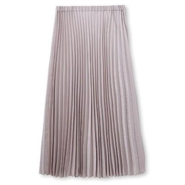 UNTITLED(アンタイトル)【洗える】スウェード調サテン素材プリーツスカート