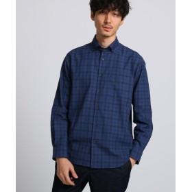 タケオキクチ トップチェックワイドBDシャツ メンズ ダークネイビー(294) 03(L) 【TAKEO KIKUCHI】