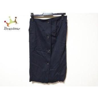 アダムエロペ Adam et Rope スカート サイズ38 M レディース 美品 ネイビー 新着 20190820