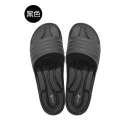MIT台灣製厚底防滑排水設計拖鞋-黑色
