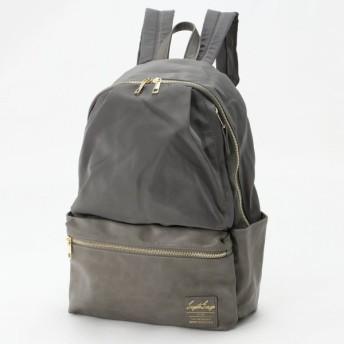 バッグ カバン 鞄 レディース リュック グログラン調ポリ/PU10ポケットリュック カラー 「グレー」
