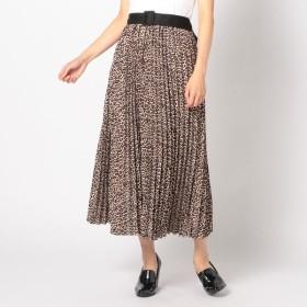 [マルイ]【セール】ベルト付レオパードプリーツスカート/アンレリッシュ(UNRELISH)
