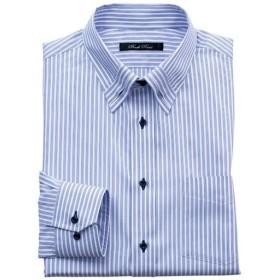 【メンズ】 形態安定デザインYシャツ(ゆったりシルエット) - セシール ■カラー:ブルー系 ■サイズ:39(裄丈78),39(裄丈82),41(裄丈80),41(裄丈82),43(裄丈84),45(裄丈86),47(裄丈86)