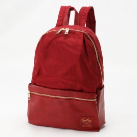 バッグ カバン 鞄 レディース リュック グログラン調ポリ/PU10ポケットリュック カラー 「ワイン」