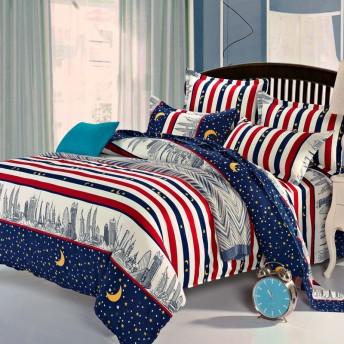 早勝ち大特価 寝具カバー 4点セット 柔らか優しい肌触り 掛布団カバー シーツ 爽やか キッズ 速乾 3点セット 形状安定 吸汗 清潔 Y-002