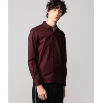 トゥモローランド サークルプリント スリムフィット レギュラーカラーシャツ メンズ 68ネイビー系 0 【TOMORROWLAND】