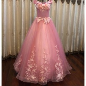 ウェディングドレス 二次会 結婚式 カラードレス ロング パーティードレス ピンク 司会者 演出服 同窓会 マーメイドワンピース 大きいサ