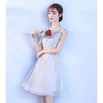 Aラインドレス レディース イブニングドレス 二次會ドレス ノースリーブ パーティドレス 結婚式ドレス 披露宴 演奏會 ドレス