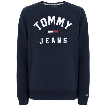 《セール開催中》TOMMY JEANS メンズ スウェットシャツ ダークブルー S コットン 90% / ポリエステル 10% TJM ESSENTIAL FLAG C