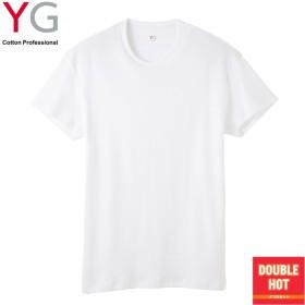 GUNZE グンゼ YG(ワイジー) ダブルホット クルーネックTシャツ(メンズ)【まとめ買い対象】 ネービーブルー L