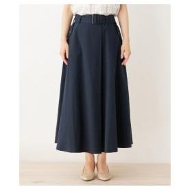SHOO・LA・RUE(Ladies)(シューラルー(レディース))【WEB限定サイズあり】ラップ風タックデザインスカート