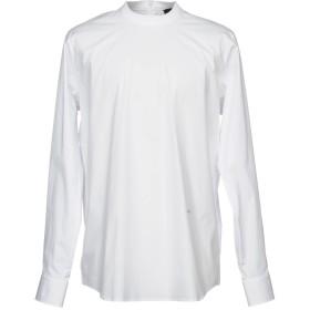 《期間限定セール開催中!》DSQUARED2 メンズ シャツ ホワイト 54 コットン 96% / ポリウレタン 4%