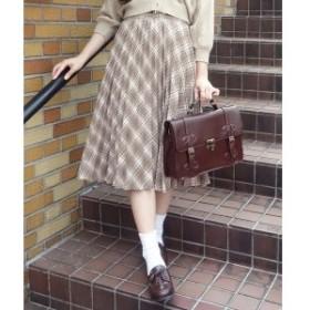 フィント(FINT)/「2019秋冬新作」ビット使いチェックプリーツスカート/F&A